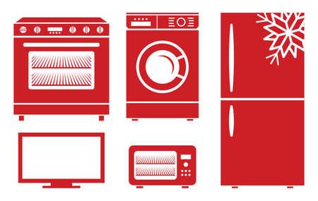 appliances: household appliances vector icons