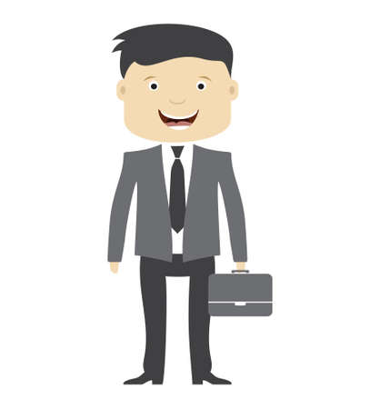 working people: Businessman with suitcase vector illustration Illustration