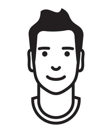 silueta humana: Icono del hombre del vector del esquema de Avatar