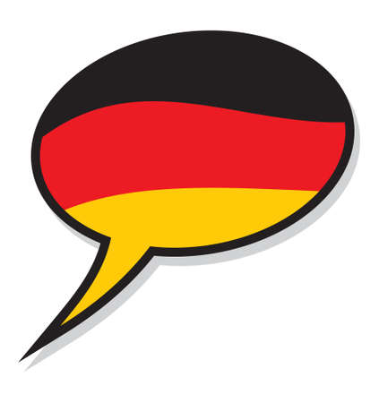 germany: Germany language text bubble