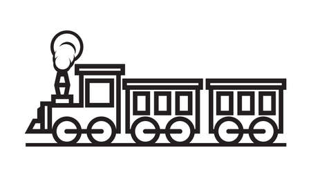 Train vector icon Stock Illustratie