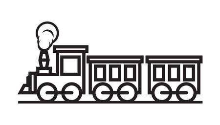 Train vector icon Illustration