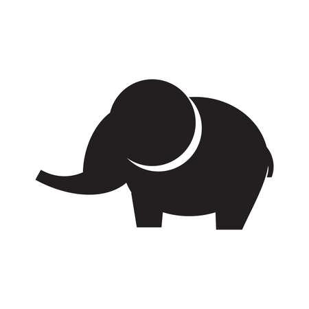 Elephant vector icon Vektoros illusztráció