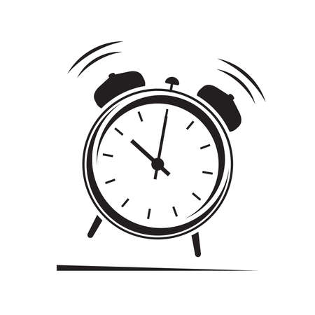 Alarm clock icon Illustration