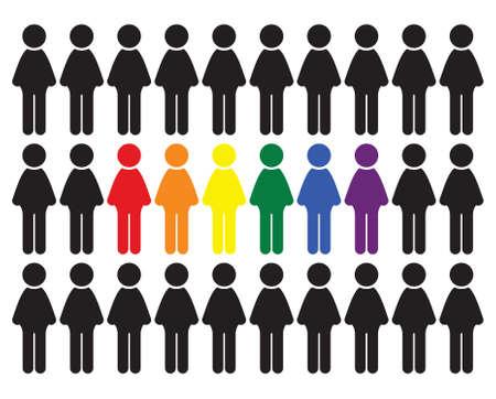 LGBT の人々 はベクトル アイコン