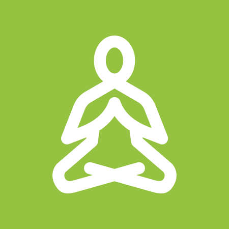 yoga meditation: Yoga meditation vector icon Illustration