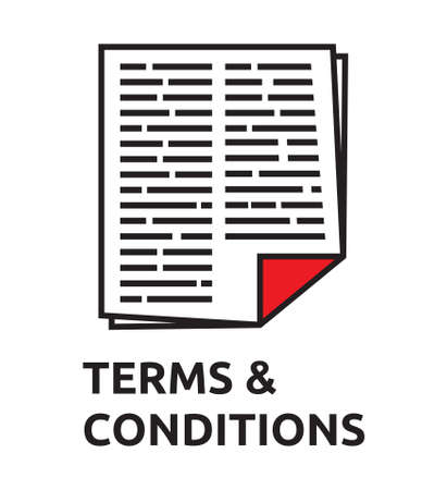 conditions: Terms and conditions vector icon Illustration