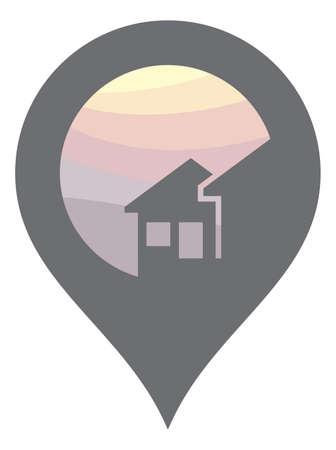 internet mark: Map pointer