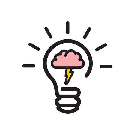 brainstorming: Brainstorming bulb icon