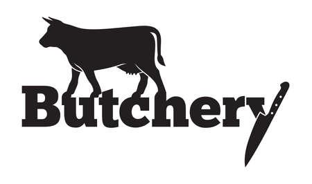 carnicería: Carnicería del icono del vector Vectores