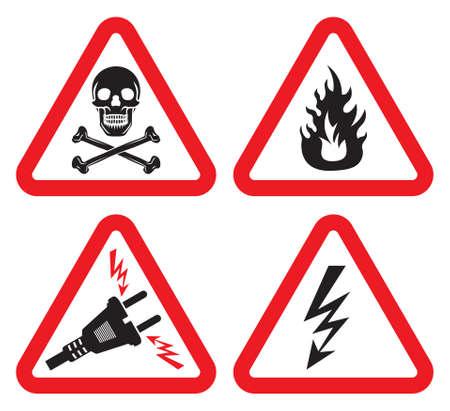 switchboard: Set of Warning Sign Illustration