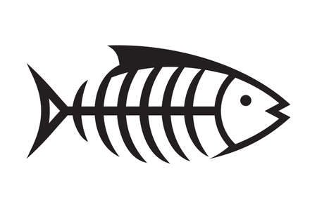 fish bone: Fish bone vector icon