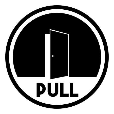 door sign: Door sign - pull