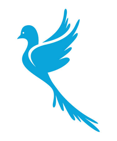 heaven and earth: Dove of Peace vector icon