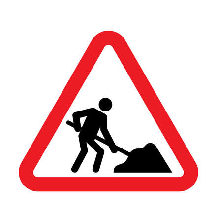 road construction: under construction road sign