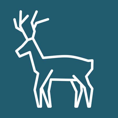 rein: Christmas reindeer simple vector icon Illustration