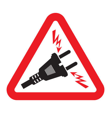 voltage: Triangle High Voltage Warning Sign
