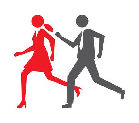 personas corriendo: Negocio administrado por Vector de la muestra