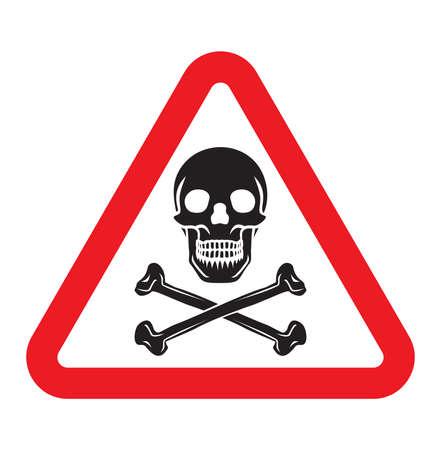 non toxic: danger sign Illustration