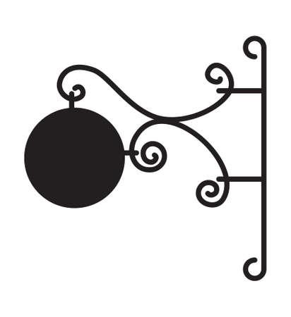 albergo: Blank bordo del segno - albergo, ristorante segno
