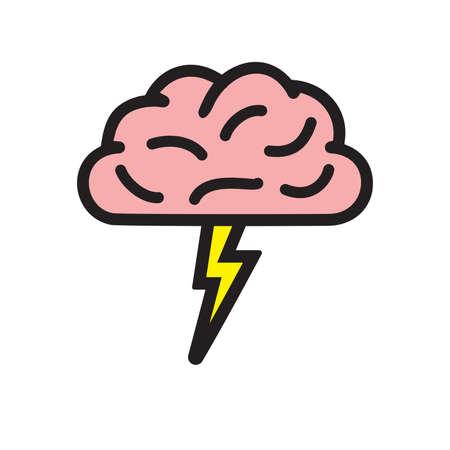 brainstorming: Brainstorming vector icon