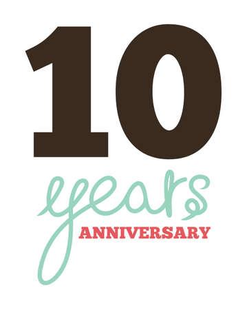 10 years: 10 years anniversary Illustration