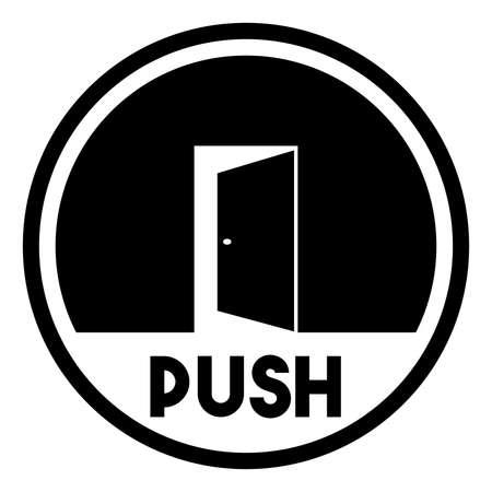 push: Door sign - push Illustration