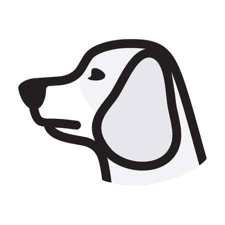 icono del vector de perro