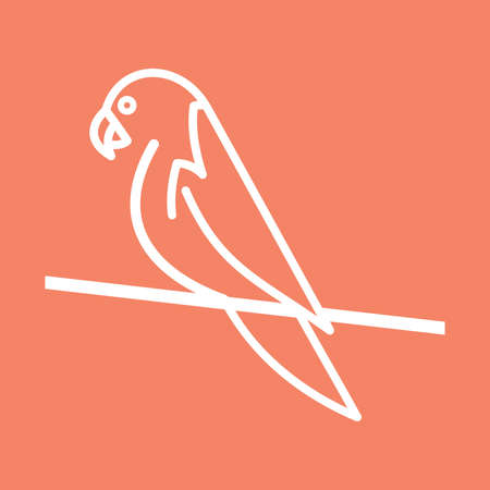 simple: parrot simple vector icon
