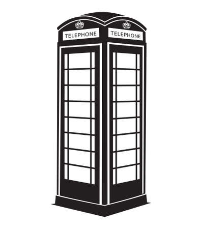 telephone booth: London telephone box Illustration