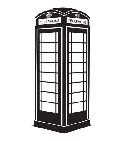 phone box: London telephone box Illustration