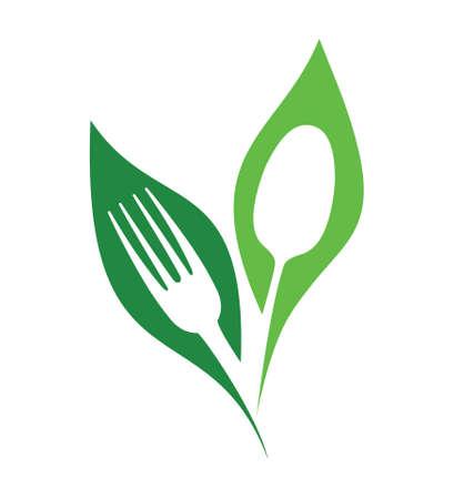 restaurante orgánico símbolos vectoriales