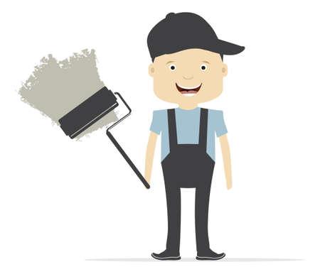 renovating: Painting service - painter at work