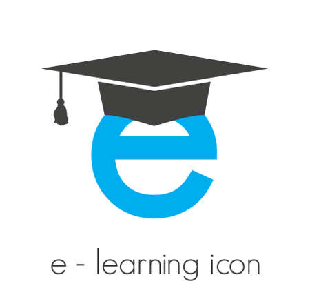online education: e-learning vector icon