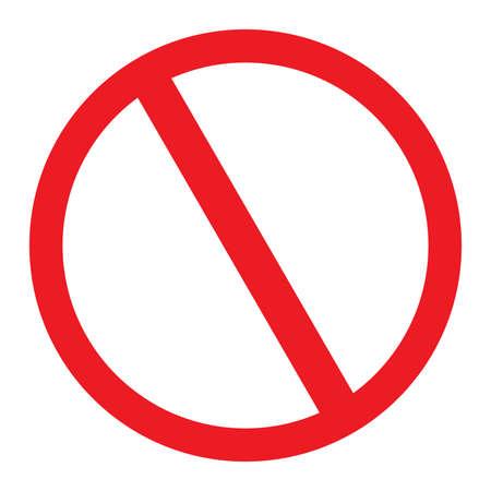 No Sign blank vector icon Stock Illustratie