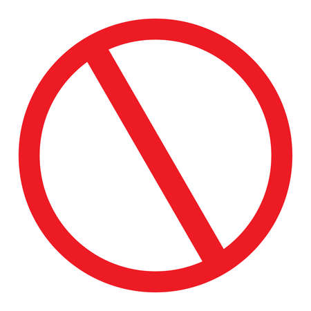 No Sign blank vector icon Illustration