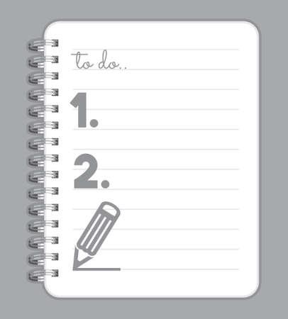 open notebook: Notebook blank Illustration