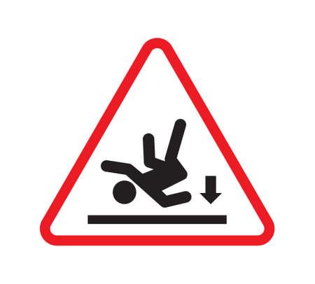 slippery warning sign: Wet floor warning sign - slippery floor sign Illustration