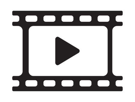 internet buttons: video play icon - movie player icon
