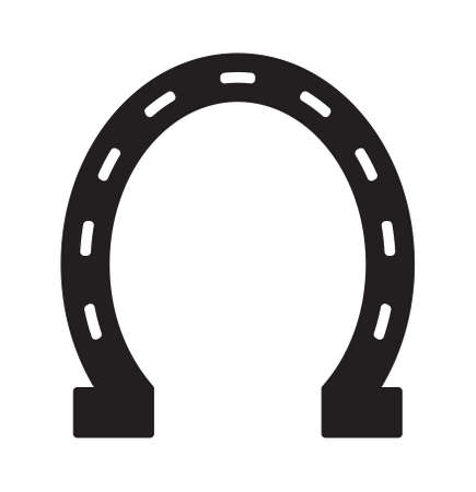shoe: Horse shoe vector icon