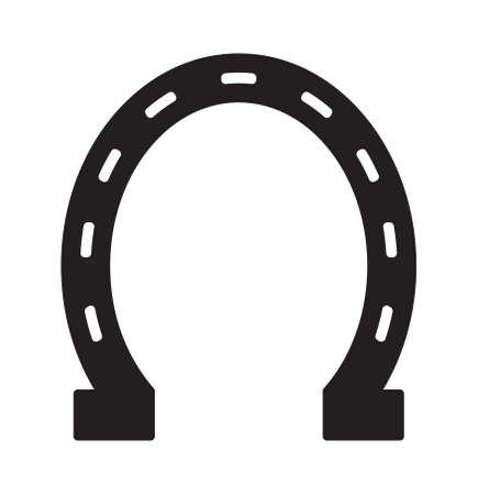 horse shoe: Horse shoe vector icon