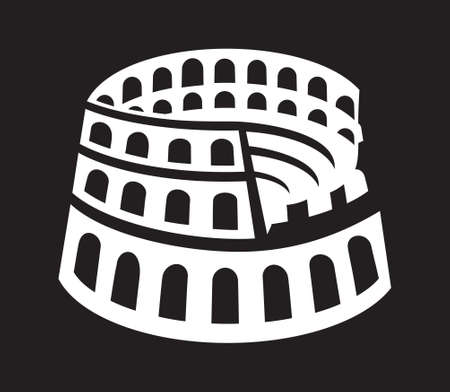 Rome colosseum icon
