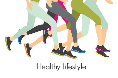 sport shoe: Healthy lifestyle - running concept Illustration