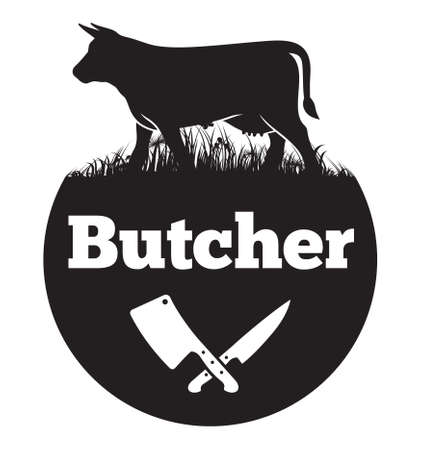 meat knife: Butcher vector icon Illustration