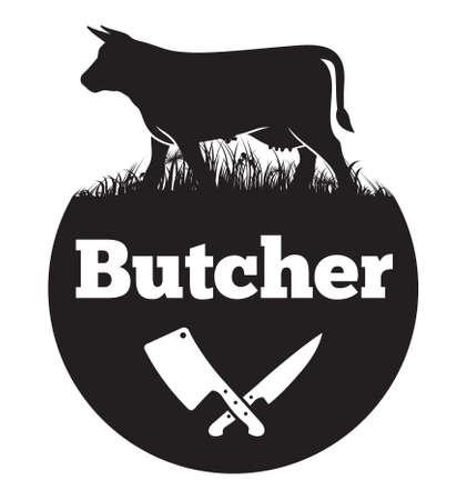 carniceria: Carnicero del icono del vector