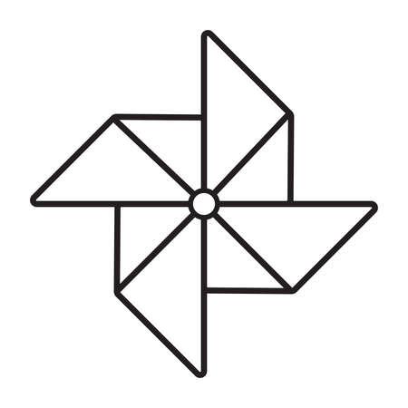 weathercock: Paper windmill icon Illustration