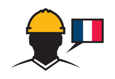 protective: France contractor vector icon Illustration