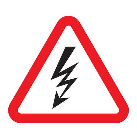 electroshock: high voltage sign Illustration