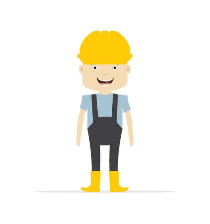 hombre con sombrero: trabajador de la construcción - ingeniero