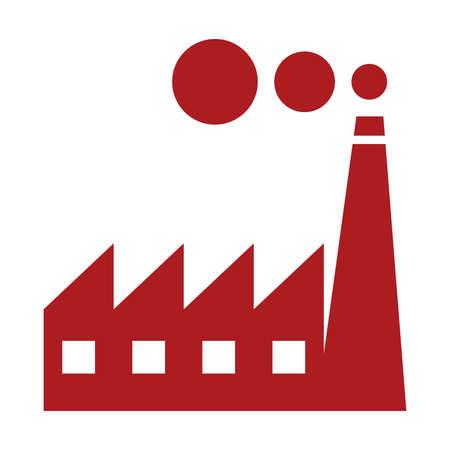 Factory-Symbol - Industrie-Vektor-Symbol Vektorgrafik